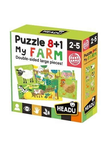 Headu  8+1 Çift Taraflı Çiftliğim Yapboz 2-5 Y Renkli